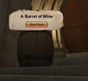 a barrel of wine