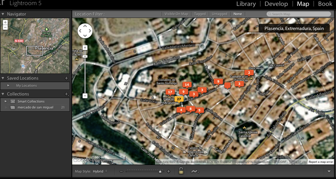 GPS Map of Digital Photography  Key to our project is accurately